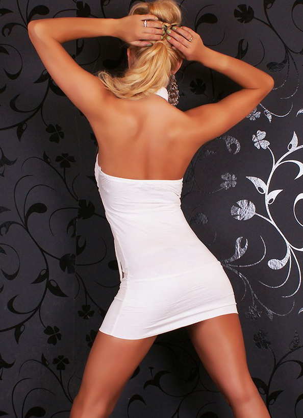Lifting Bust padded White Club Dress