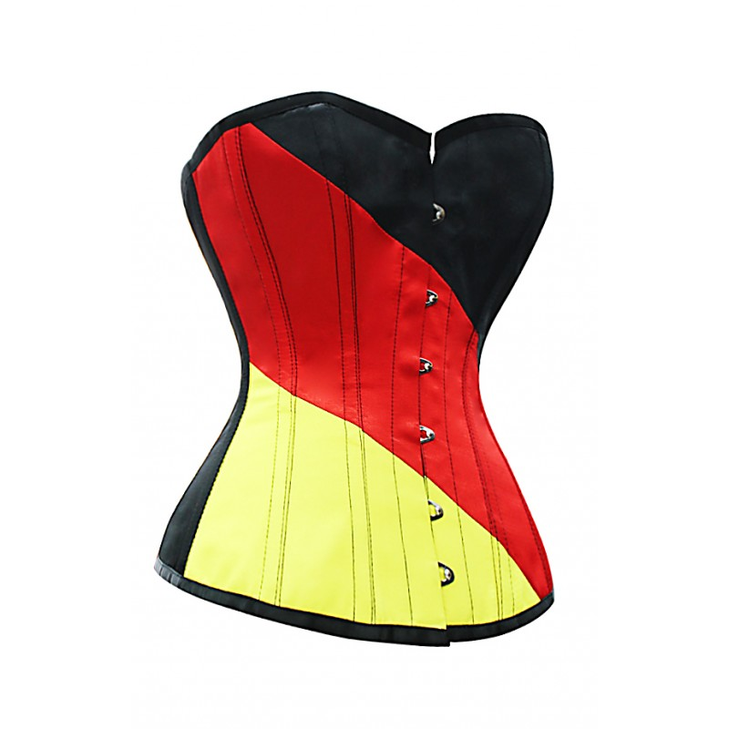 Flag of Germany Steel Boned Overbust Corset