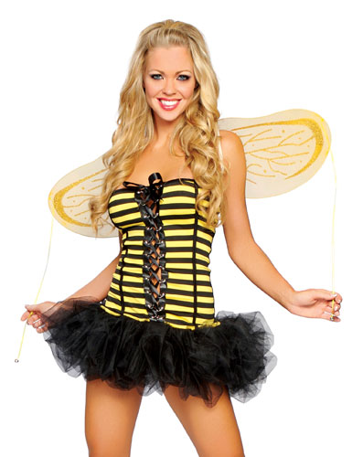 Lace-Up Honey Bee Costume