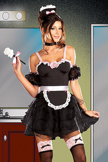 French Maid Outfit Fancy Dress Outfit
