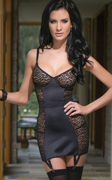 Sexy Lingerie Lace Chemise Mesh Bustier