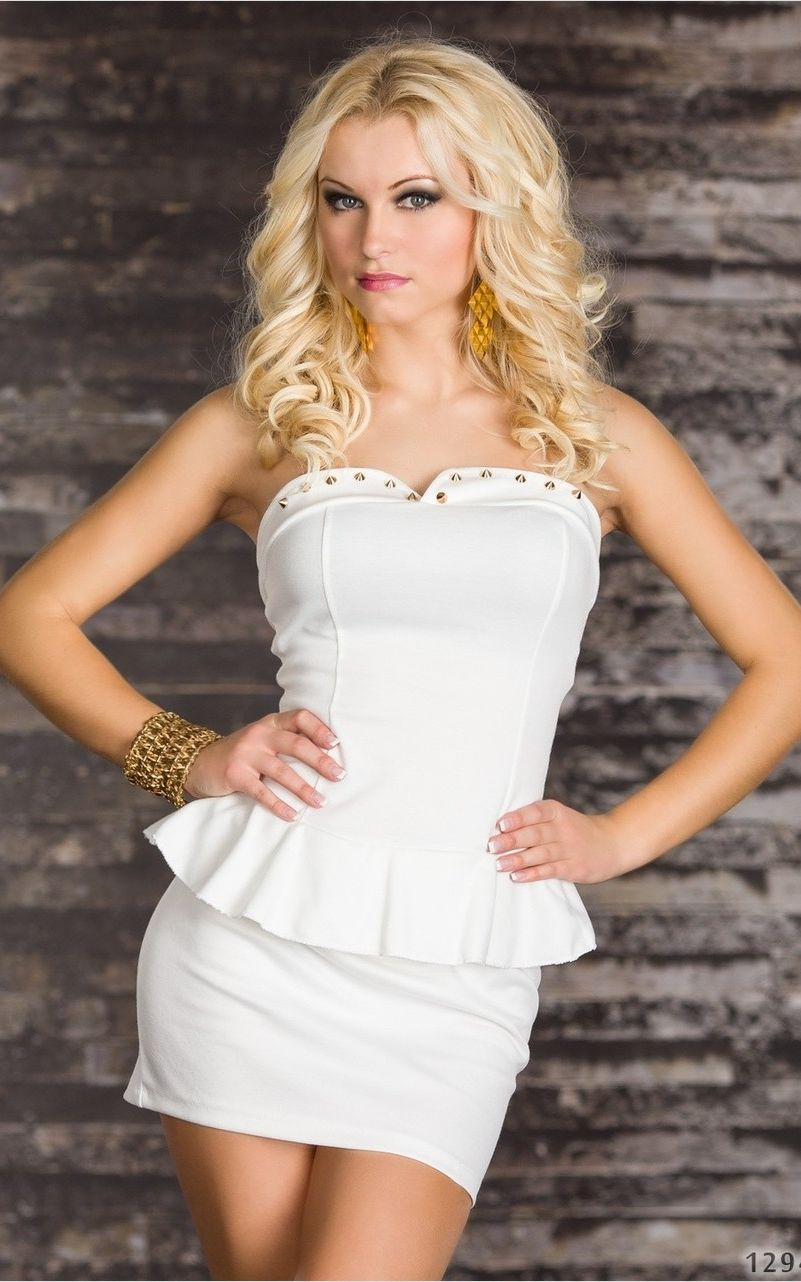 fashion flouncing Wrapped chest dress