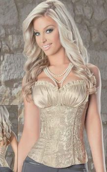Nude Corset with Paisley Design
