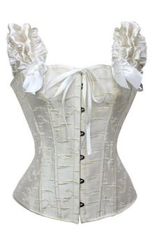 Ruffled Off the Shoulder Corset in White