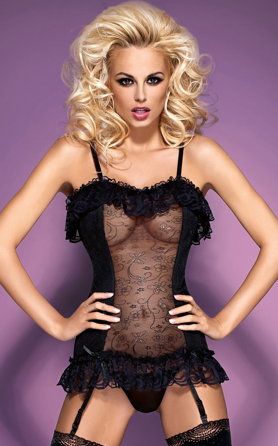 Gorgeous underwire satin tapestry corset