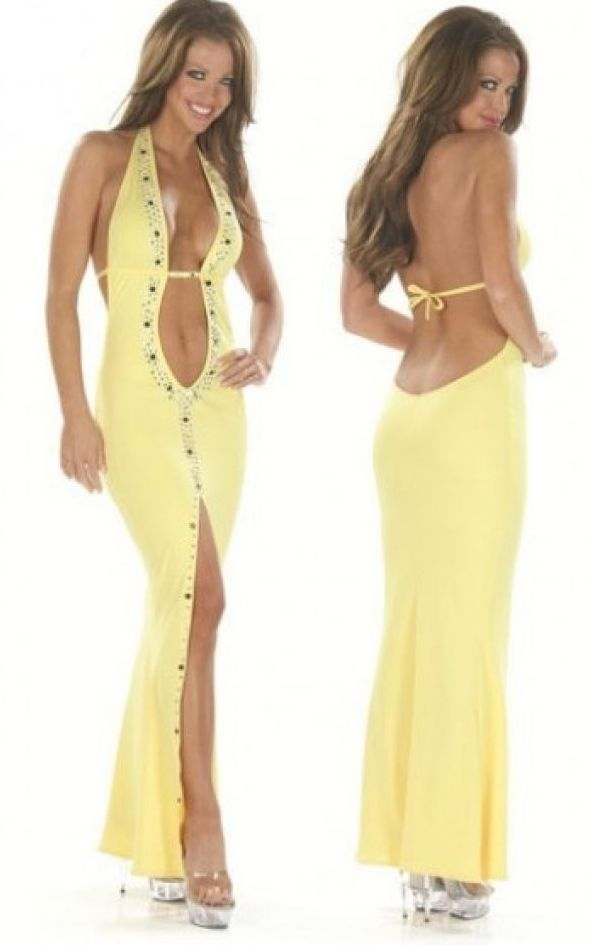 Sexy Yellow Long Gown