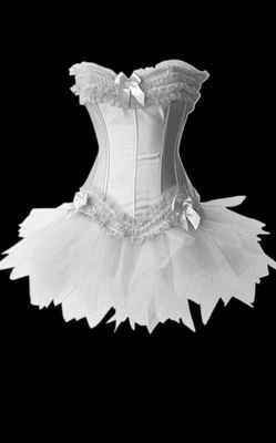 White the ruffled tutu skirt