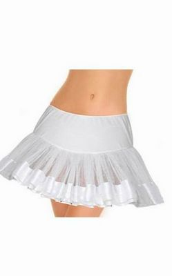 White Satin Trimmed Petticoat