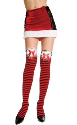 stripy black and red Christma stockings