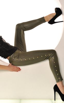 Gorgeous Leather look design leggings