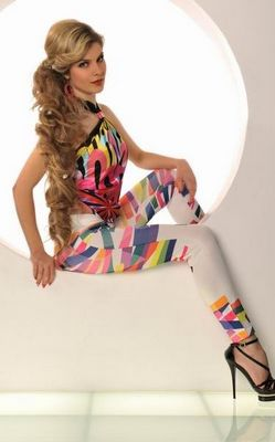 Ladies Sexy Colorful Lightning Print Stretchy Tight Digital printing Leggings
