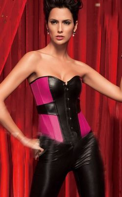 Pink Abstract Corset