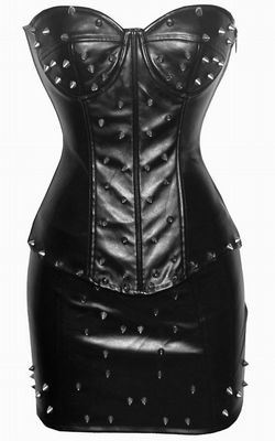 Corset and skirt with spikes