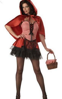 Sexy Gothic Little Red Riding Hood Plus Size Adult Halloween Costume
