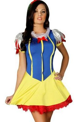 Flirty SNOW WHITE Fancy DRESS Halloween Costume