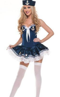 Hot Navy Girl Sexy Sailor Fancy Dress Costume
