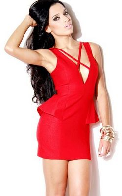 NEW Energy Girl Red Body-conscious Dress