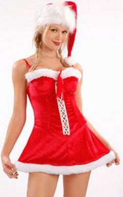 Christmas Suspender Dress Red