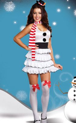 LET IT SNOW COSTUME WHITE