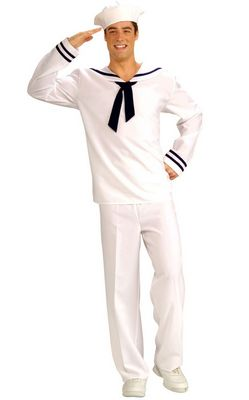 Forum Novelties Mens Anchors Aweigh Sailor Costume